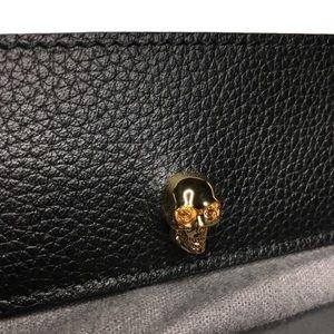 Alexander McQueen Skull Card Case Holder Black